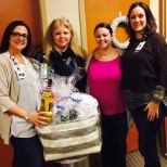 Spotsylvania Regional Medical Center photo: Some of our staff with one of the gift baskets from our raffle fundraisers