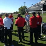 "This is one of our training events ""Golf University"" which allows vendors to train on new equipment."