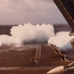 Yes it can get rough for an aircraft carrier.