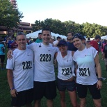 Intercept Team at last year's Corporate 4-Miler.  Second place in our division!!