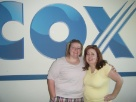 my sitster and i at baseball game in skybox from cox