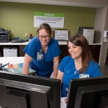 HCA MidWest Health photo: Some of our staff caught in action!