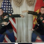 Marine corps Ball im on the left