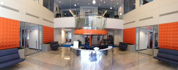 Lobby at the new Austin office.