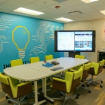 Our Innovation Lab is a state-of-the-art meeting space, fully integrated with SmartBoard technology