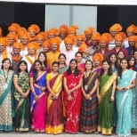 Fiserv photo: Associates show cultural pride and how wearing Orange makes them #FISVProud