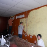 Service to a older lady who needed help painting her business' walls.
