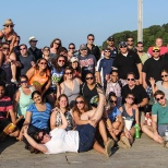 Verndale photo: Group photo at our 2013 summer outing on Thompson Island