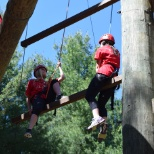 Our 2016 Summer Interns at Summit Vision high ropes course!