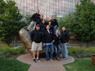 """Take me out to the ballgame!""  A sales team visited Target Stadium for a Twins game."
