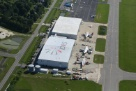 Aerial view of  DRS' Elizabeth City, North Carolina MRO facility