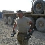 I was the gunner aboard military armored vehicles