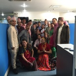 Standard Chartered Bank photo: Celebrating Diversity and Inclusion day by wearing Ethnic/Traditional Dresses