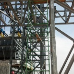 Base of Structure in erecting of scaffold in power plant # 10 in riyadh