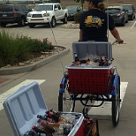 Nothing like a beer trike on a warm spring day in CO to keep you motivated! (It's a weekly thing!)