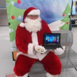 "Roger Dimitt Merchandiser for ""ActionLink and Premium Retail"" sold even Santa a Laptop."