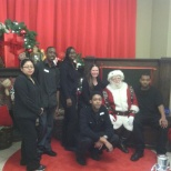 Christmas photo with the Merchandising team.