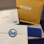 Gifts and reward by Bell for my commitment to work.