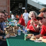 Associates enjoy a catered lunch and each other's company!