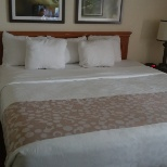 La Quinta Inns & Suites photo: My clean bed with fresh linen.