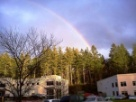 Rainbow over looking Metagenics manufacturing buildings.