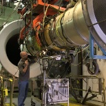 Honeywell aircraft engines, like this one in a test lab, have more than 241 million hrs in service.