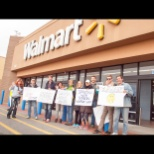 Outside of Walmart with employers