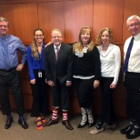 Baylor College of Medicine photo: Members of the Baylor Community show off their socks in support of World Down Syndrome Day, March 21