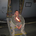 Getting ready for a fly away mission on a c-130 that I worked on in Afghanistan