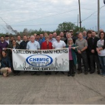 Chemic reaches 1 Million Safe Working Hours Milestone, December 2014