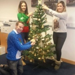 The Dublin team decorating the tree