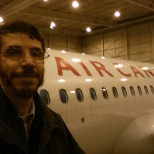 Licensed aircraft technician at air canada maintenance hangar - Montreal 2014