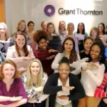 "photo of Grant Thornton, Happy International Women's Day! We're striking the ""each for equal"" pose."
