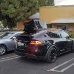 Model x with Falcon wing doors