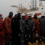 Baker Hughes Incorporated photo: First Thru Tubing Deployed ESP Team  in Africa  _  Baker Hughes ALS and Access ESP