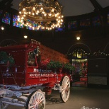 A Holiday decorated photo of the St. Louis Brewery Stables.  Photo by Kevin L. Sees