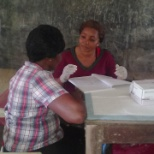 Team member-HIV Counsellor and tester during a counselling and testing session