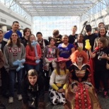 Halloween lunch with our high school friends with learning disabilities is a great day every year.