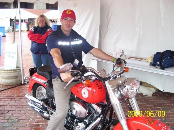 ON CURT SHILLINGS RED SOX BIKE