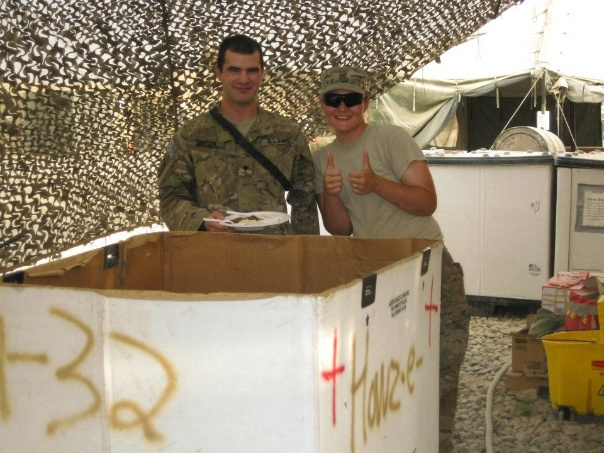 Enjoying some Army chow in good ol Afghanistan