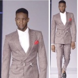 Entertainment Partners photo: Runway, Showcasing in this awesome bespoke with the tonic red pocket square
