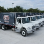 Community Waste Disposal photo: Our Azle/Keller Rear Load truck fleet.