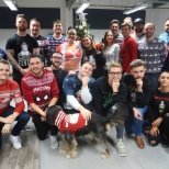 Booksy does Christmas Jumper day for Save The Children