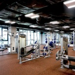 The gym on the top level of the Philips APAC Center.