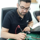 Engineer testing ECU