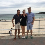 Our Amida Sydney office enjoying their backyard - Bondi Beach
