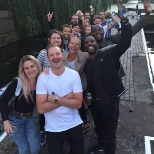 London team event - a cruise down the canal