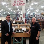 Wine Imports photo: Greg Cavallino Calabria on the left 