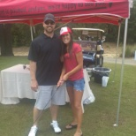 Working the Red Hook booth at Mystic Dunes Golf Tournament.
