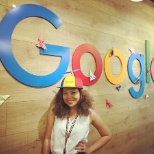 Google photo: A Noogler in her first week at Google